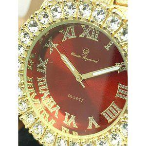 Charles Raymond Men's Watch Gold Tone Quartz Set